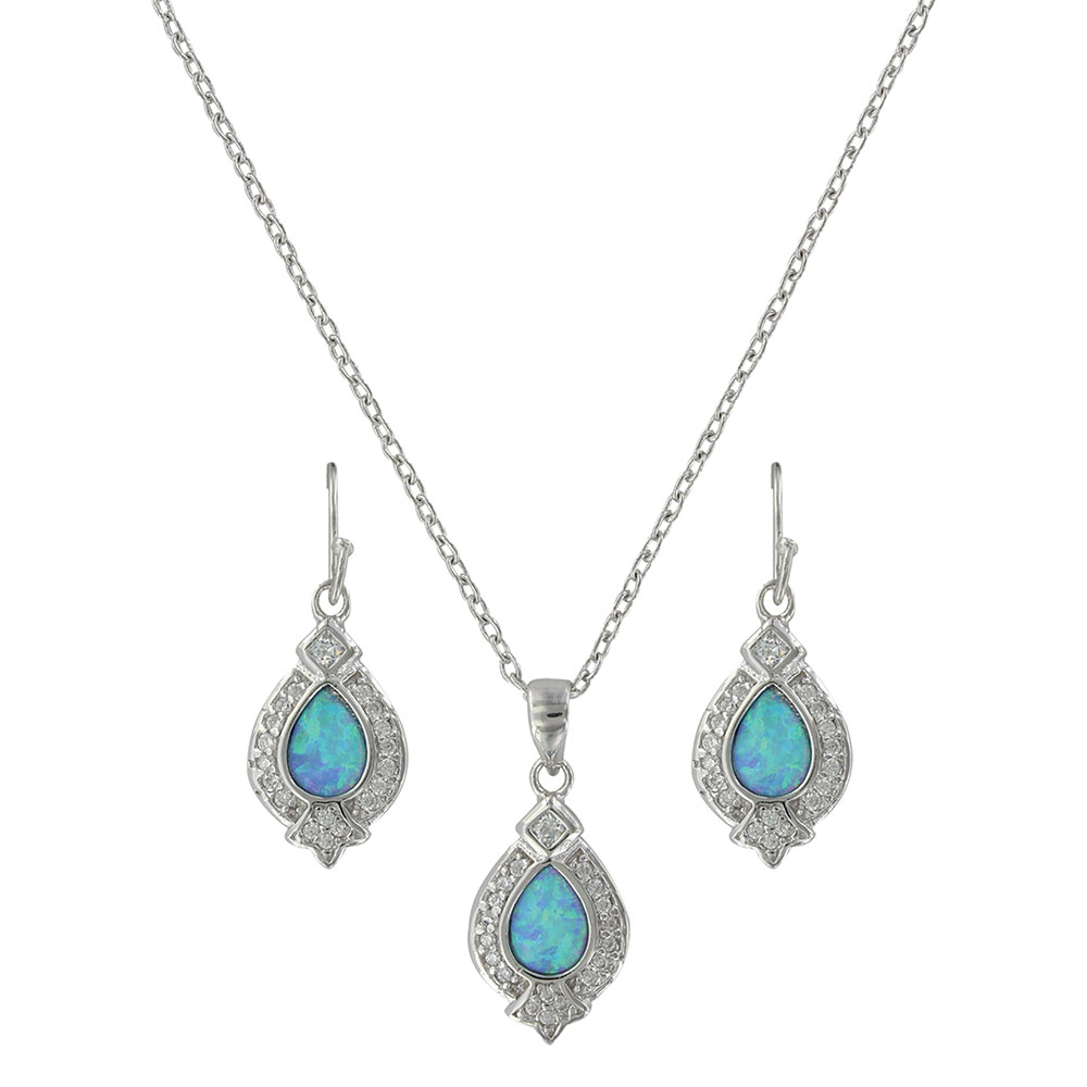 Royal Cluster Drop Jewelry Set