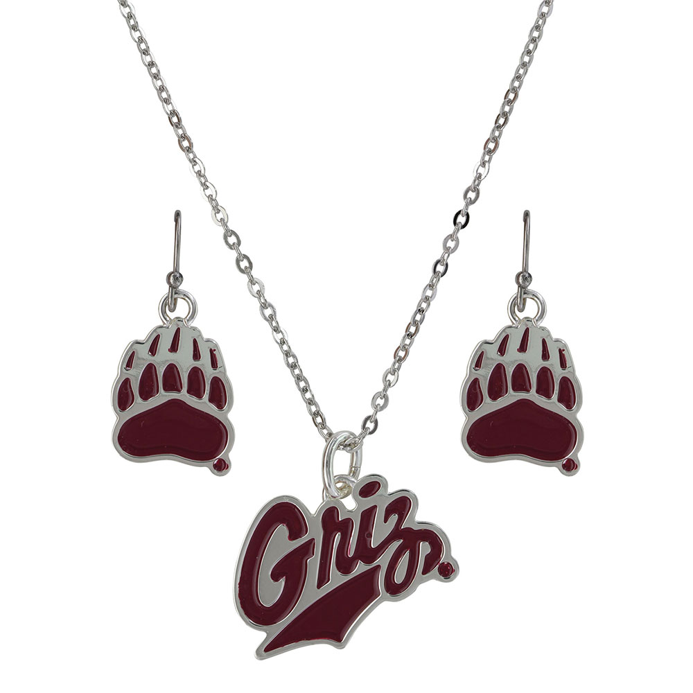 University of Montana Griz Charm Jewelry Set