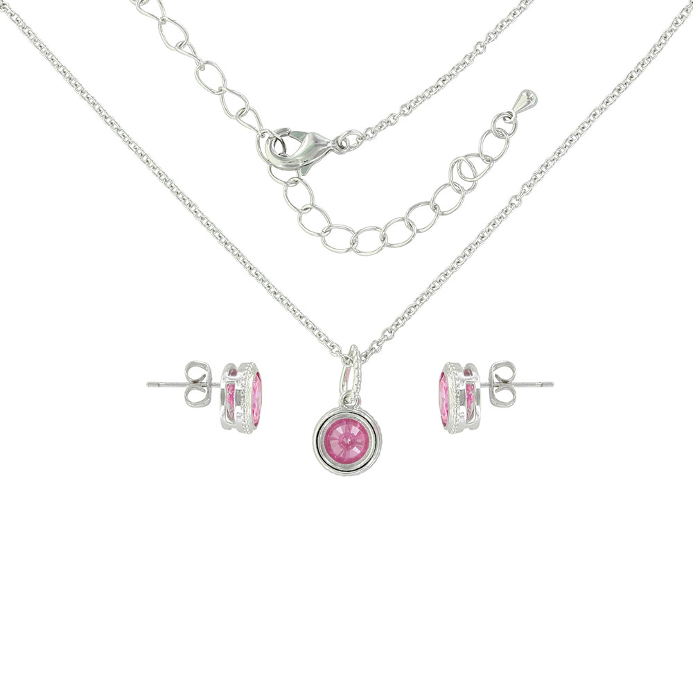 Tough Enough To Wear Pink Roped Jewelry Set