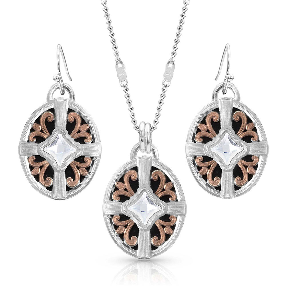 Enduring Beauty Rose Gold Jewelry Set