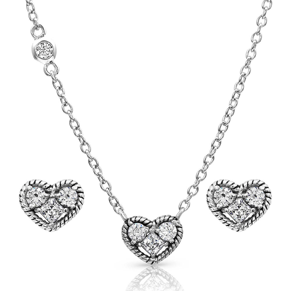 Heart Trio Jewelry Set