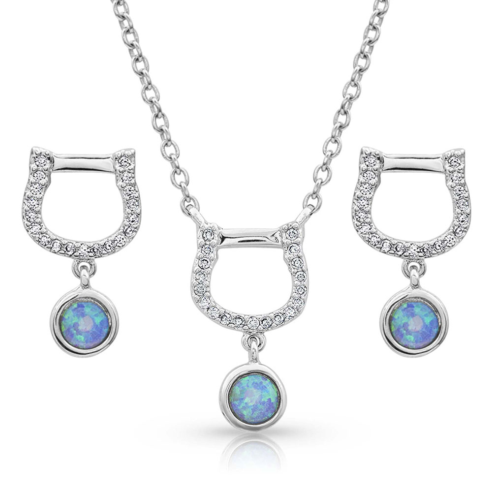 Horseshoe Opal Jewelry Set