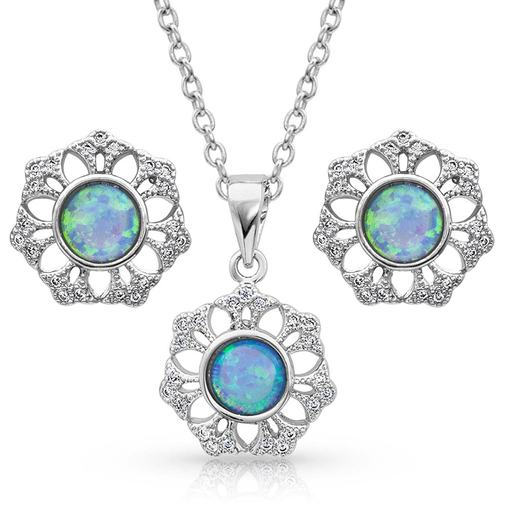 River of Lights Snowflake Opal Jewelry Set