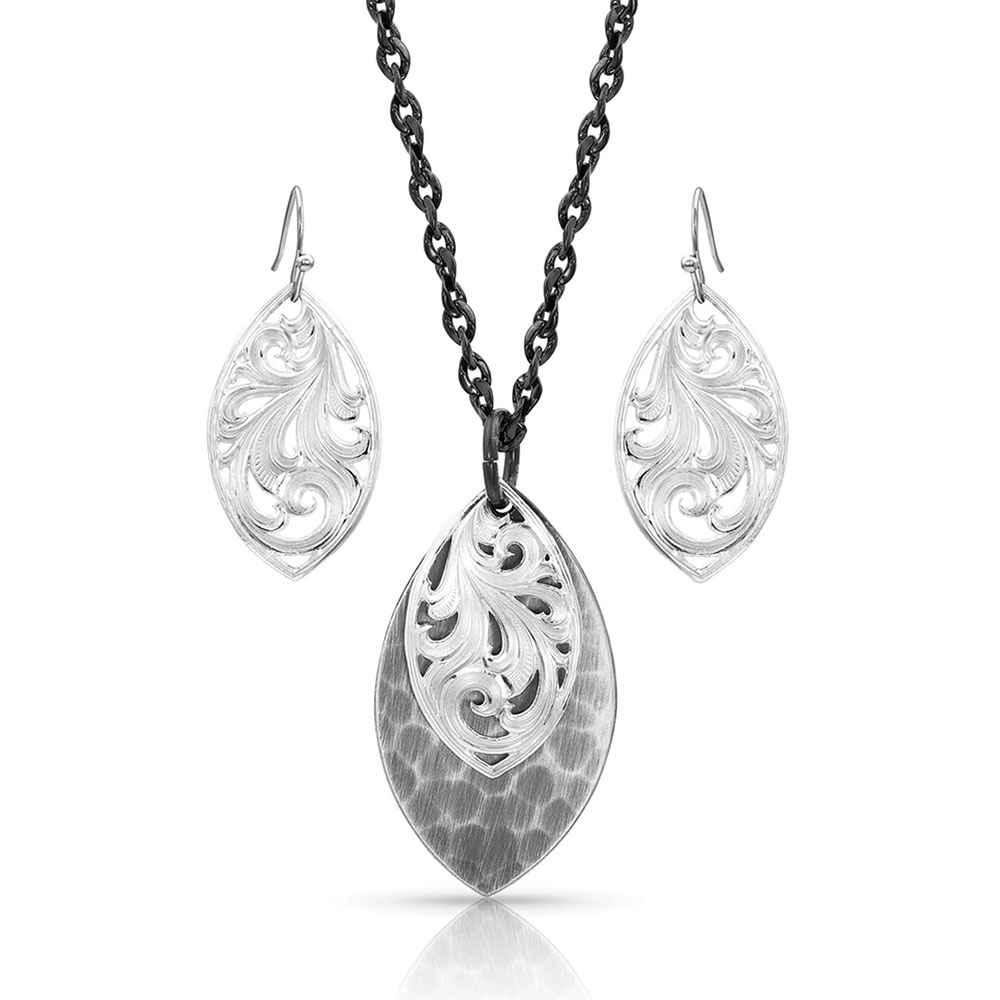 Midnight Shadows Filigree Jewelry Set