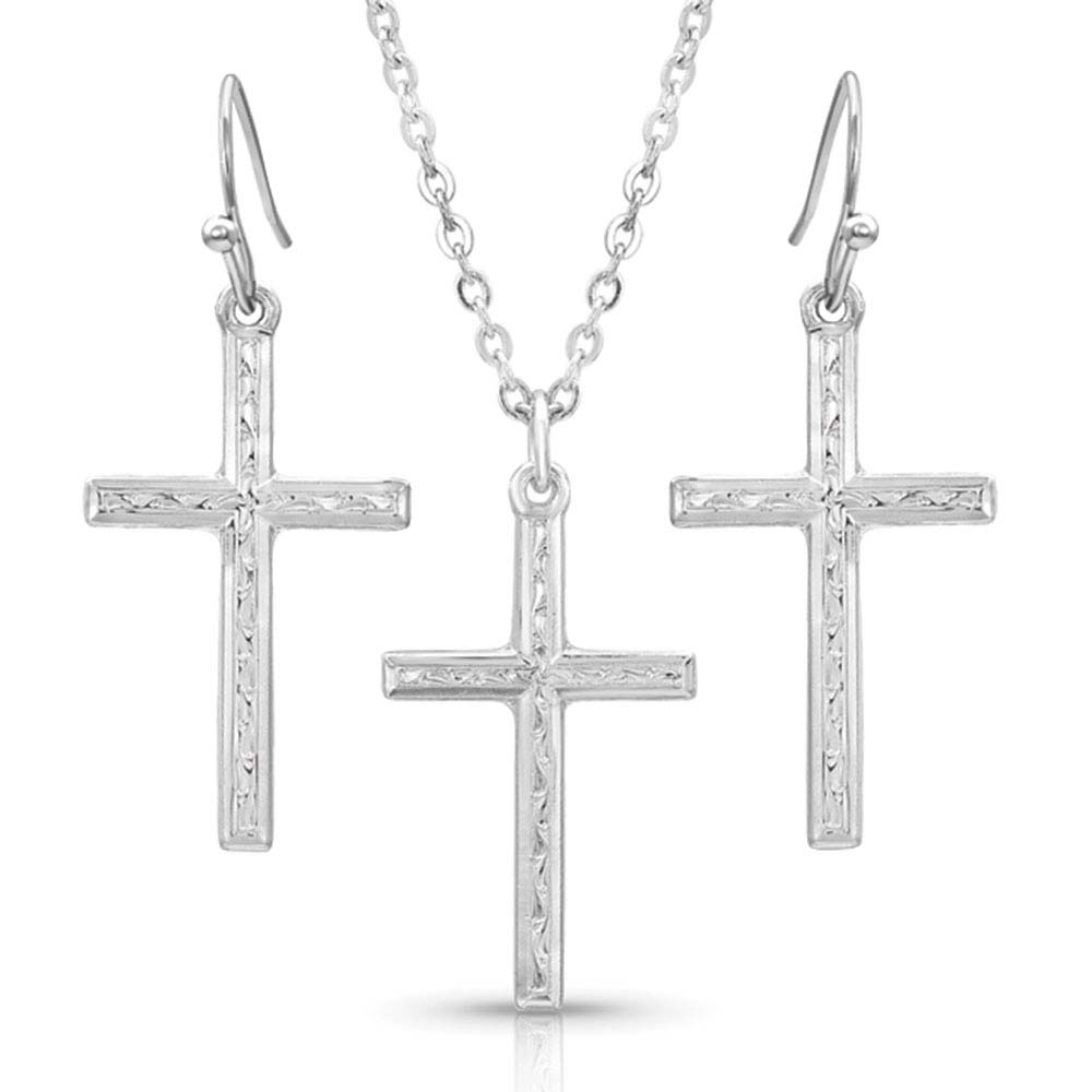Gratitude Cross Jewelry Set