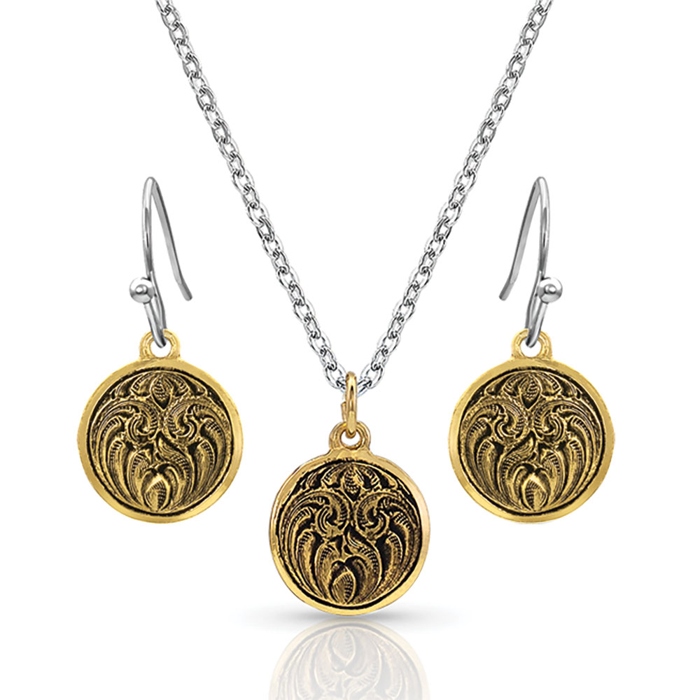 Antiqued Gold Sunset Trailwinds Jewelry Set