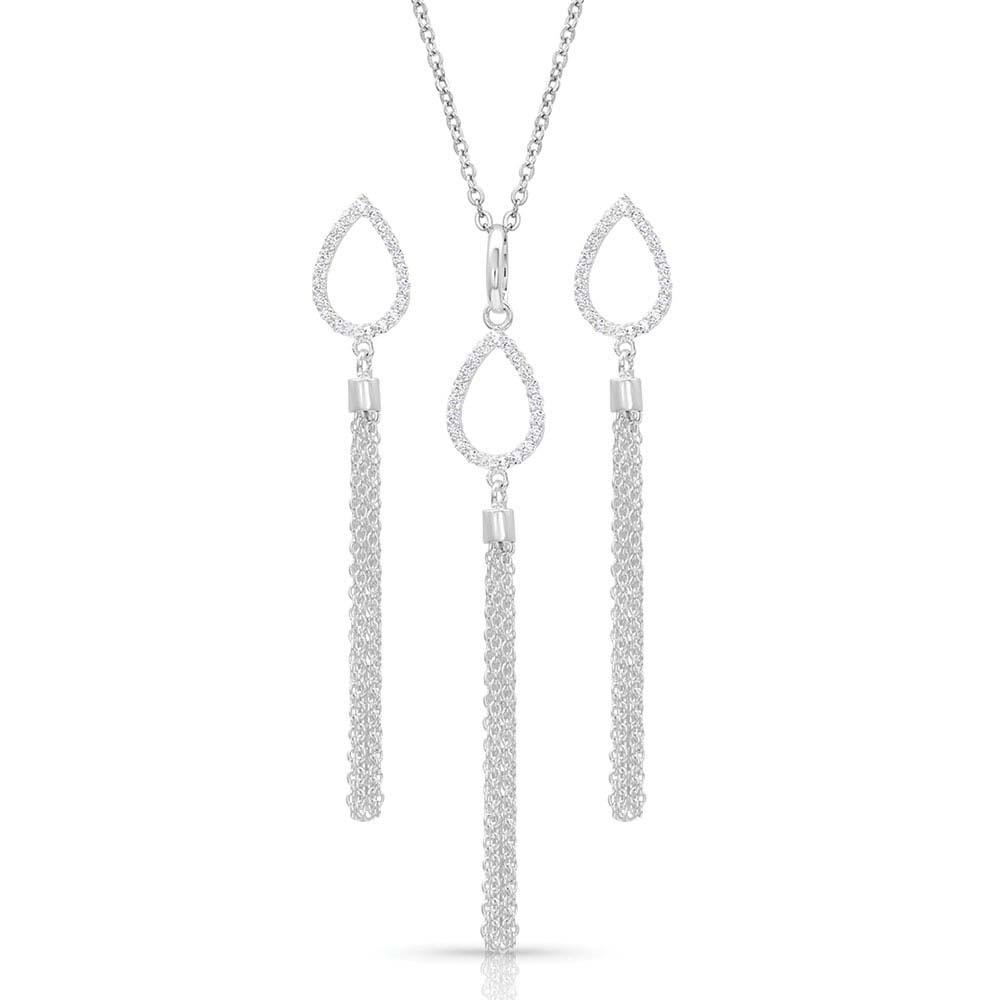 Teardrop Fringe Jewelry Set