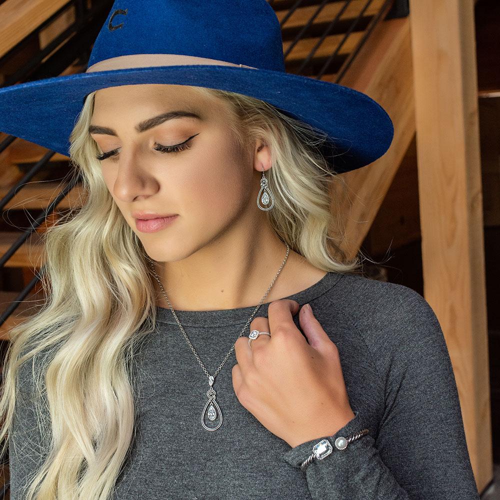 Woven Top Teardrop Jewelry Set