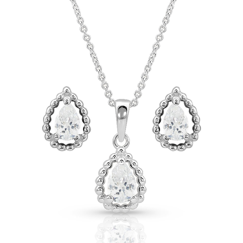 Arctic Rain Teardrop Jewelry Set