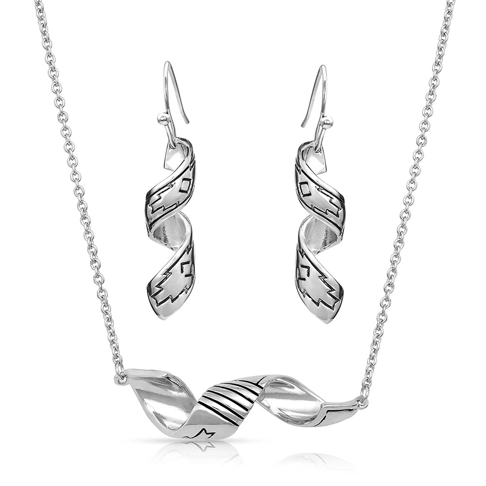 Coiled Thunderstorm Jewelry Set