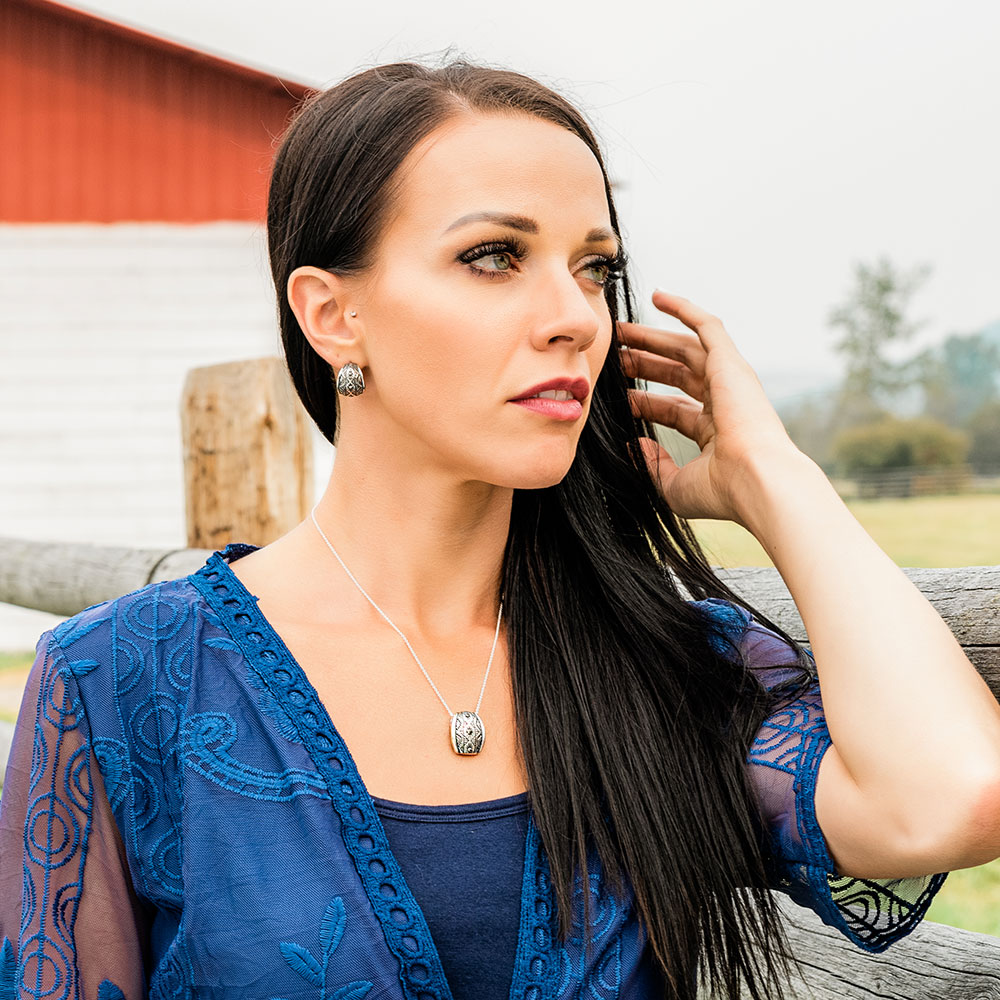 Western Lines Curved Jewelry Set