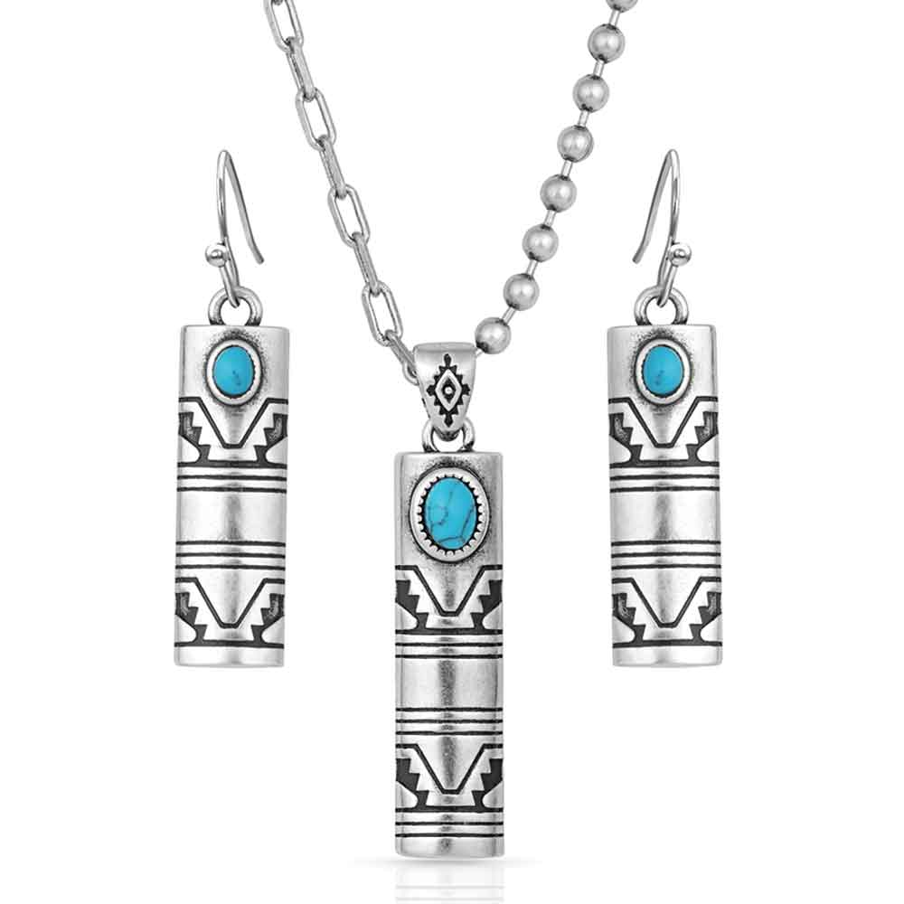 Western Stonehenge Buffed Jewelry Set