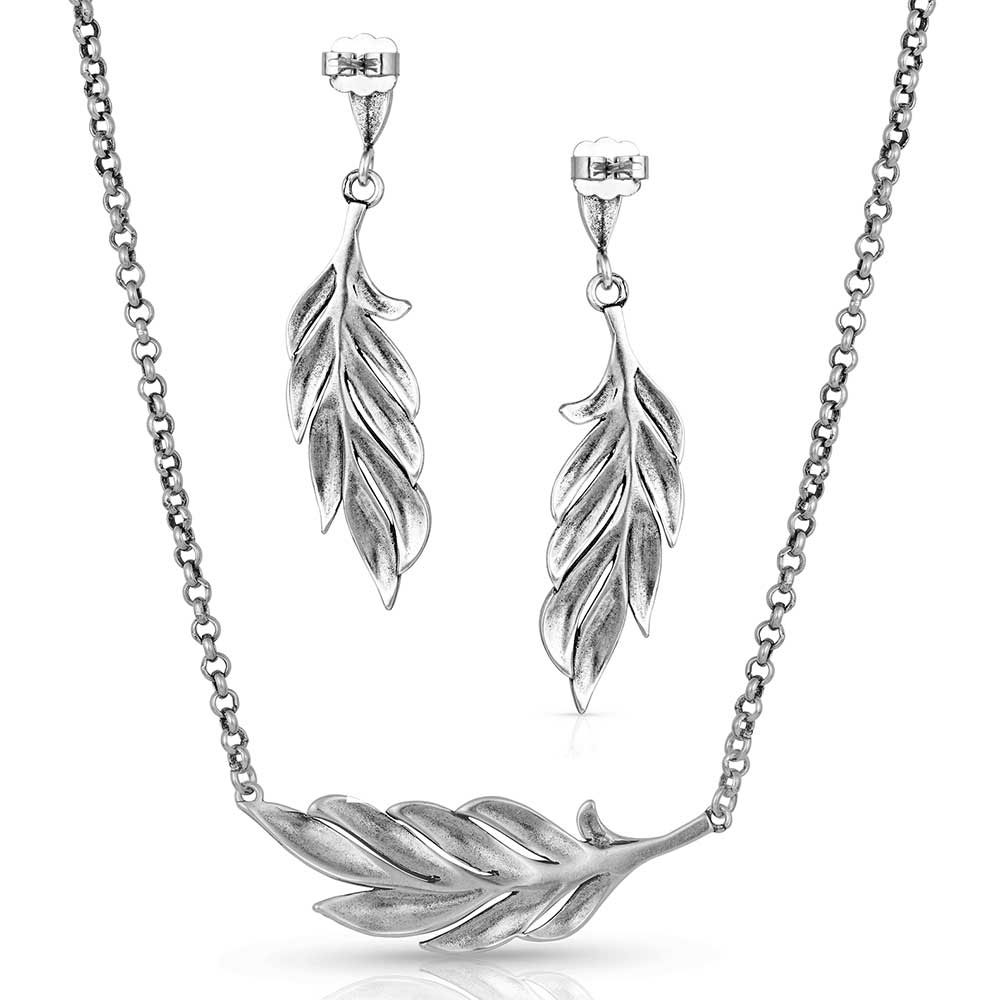Frayed Singleton Feather Jewelry Set