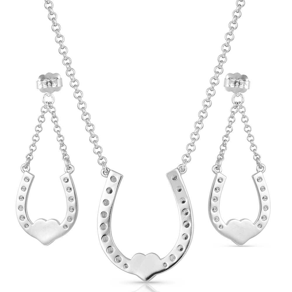 Lucky in Love Heart-Horseshoe Jewelry Set