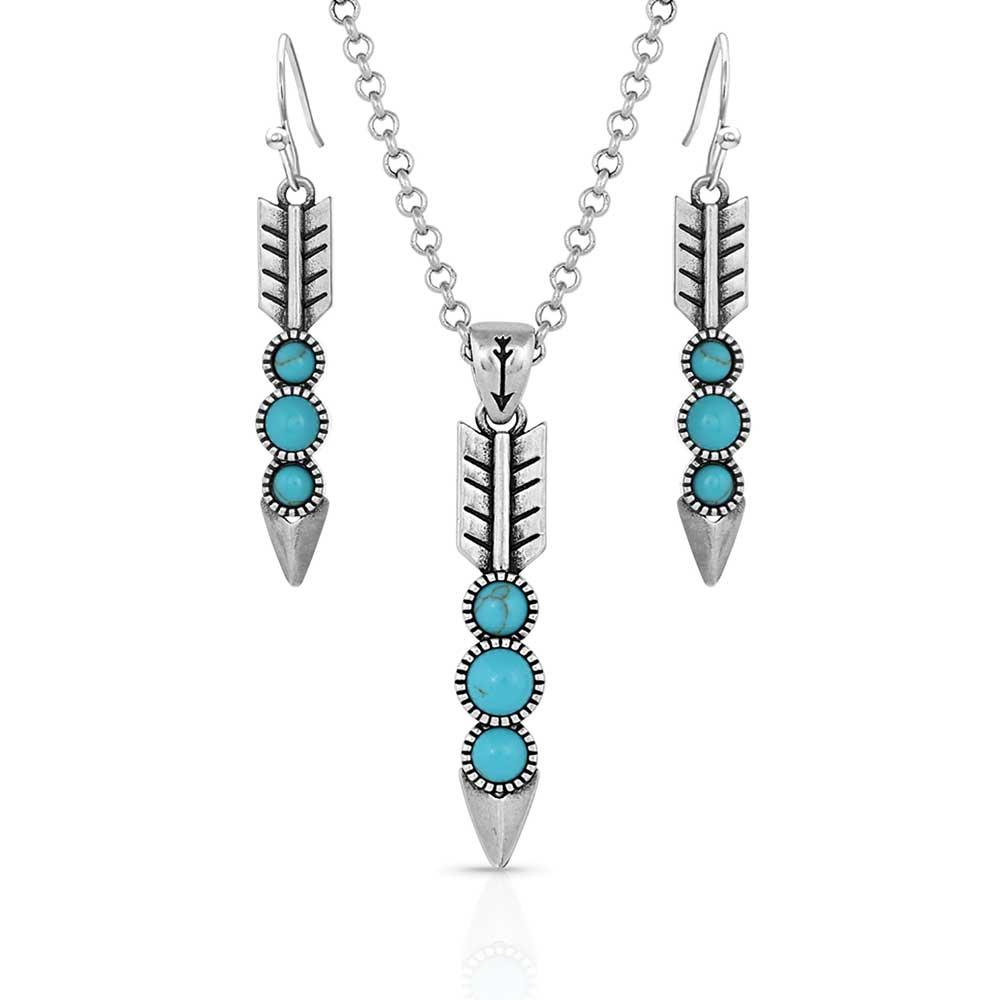 Free Falling Silver Arrow Jewelry Set