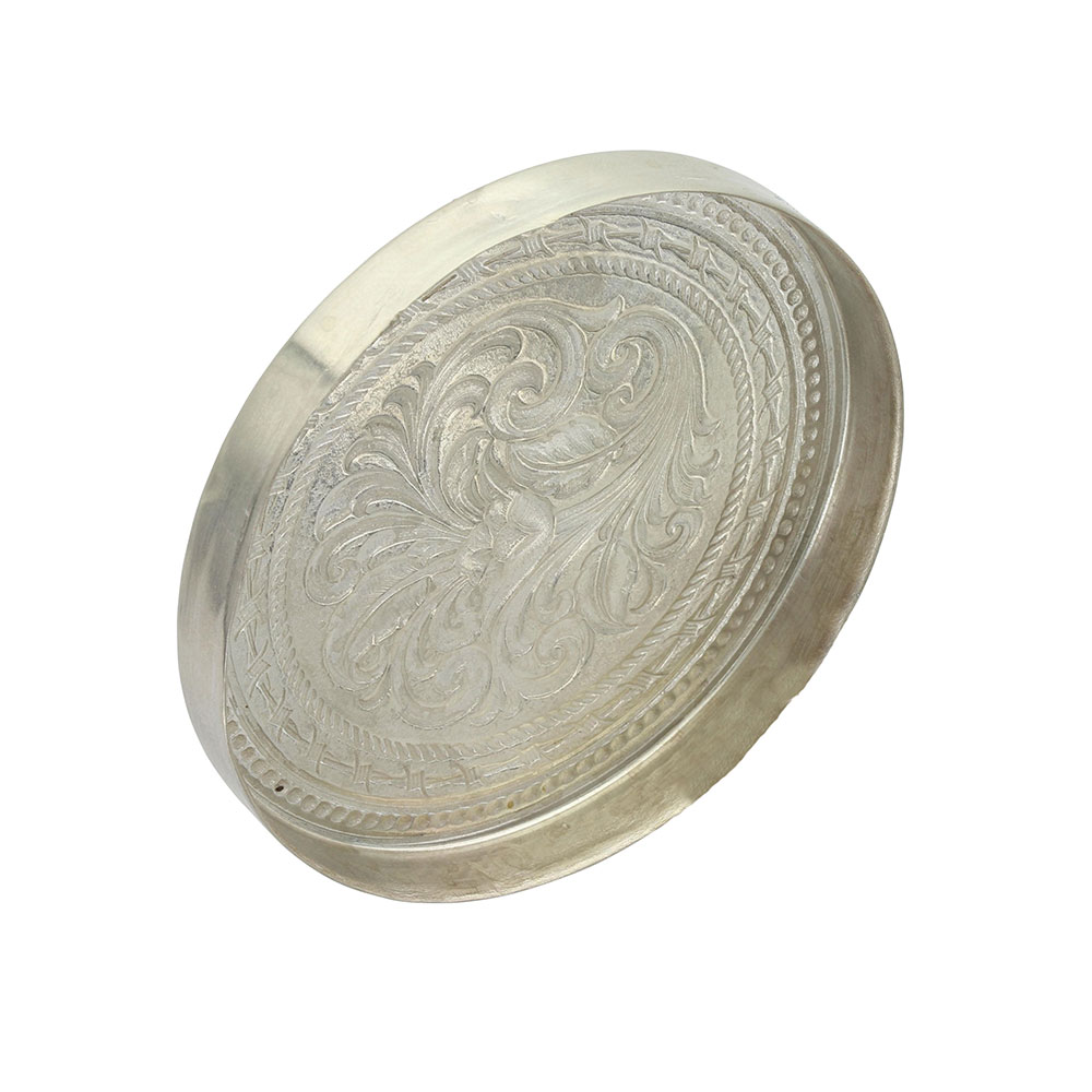 New Traditions Stars and Barbed Wire Snuff Lid With Bull Rider Figure