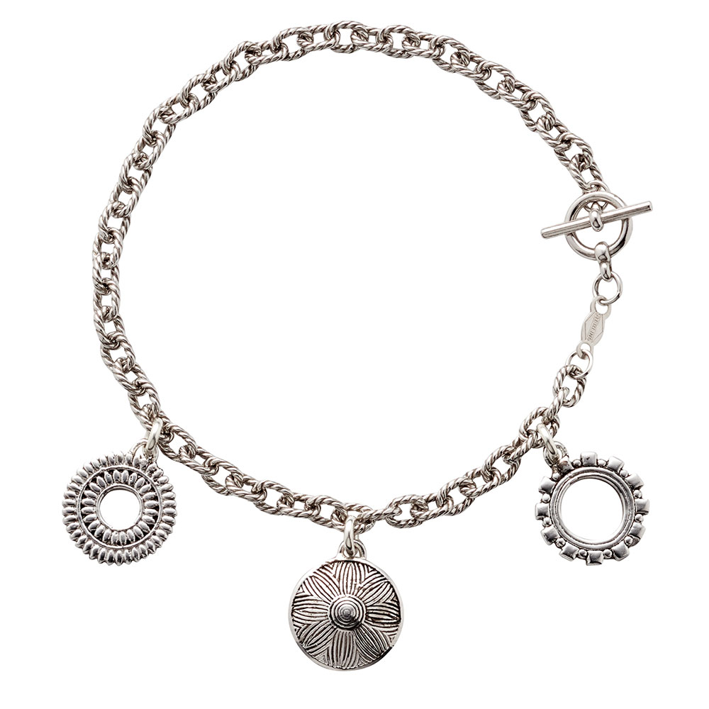 Three Tokens Charm Bracelet