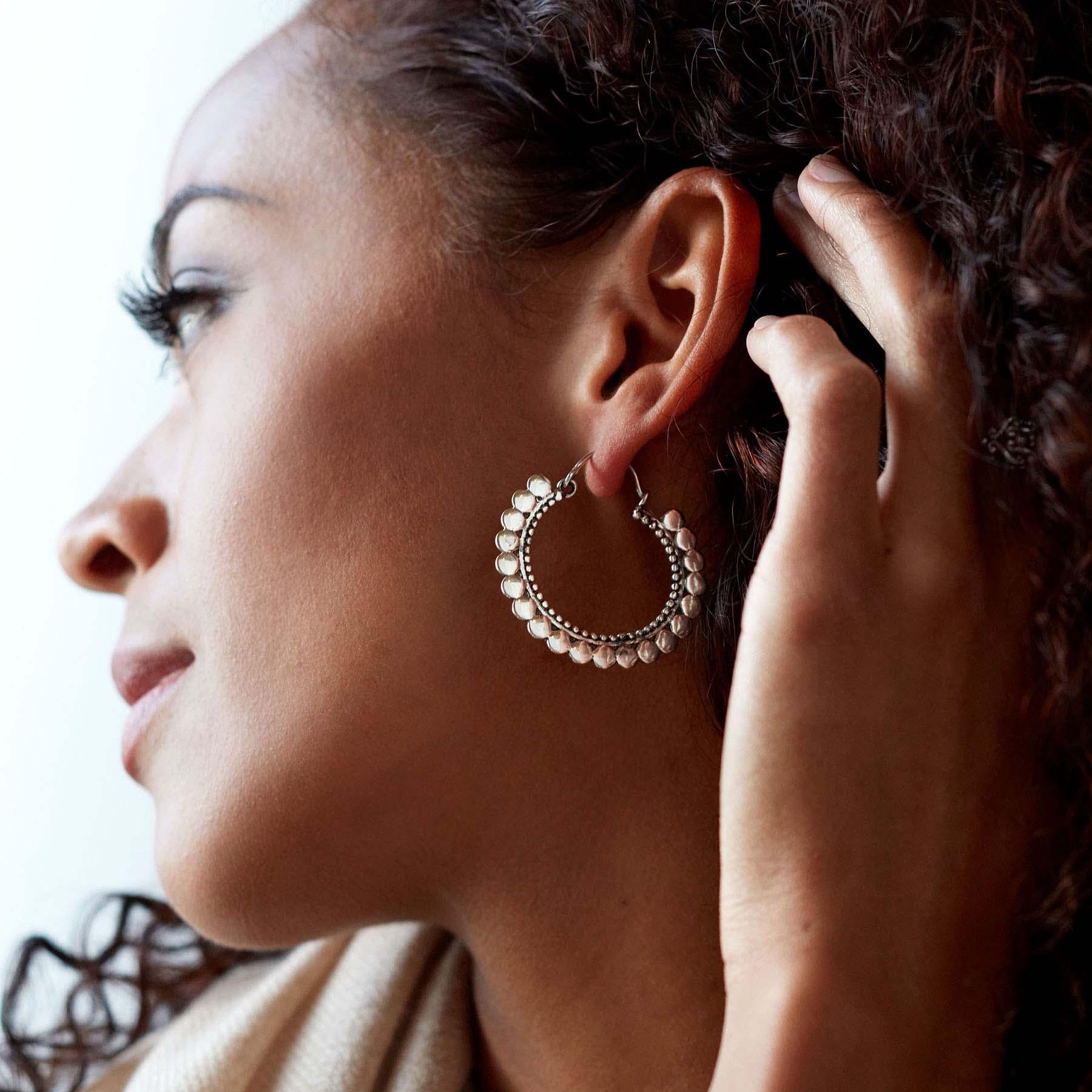 Souvenir Sterling Silver Hoop Earrings