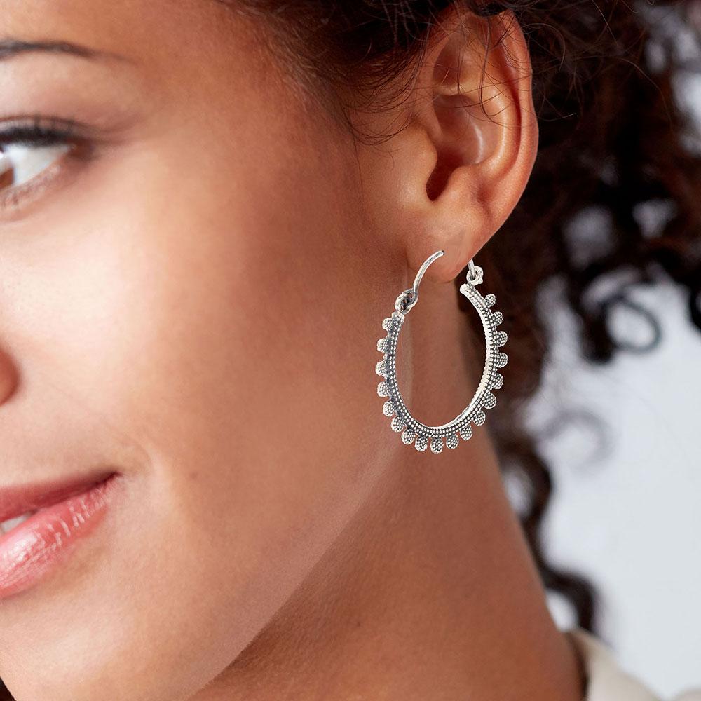 Gypsy Sterling Silver Hoop Earrings