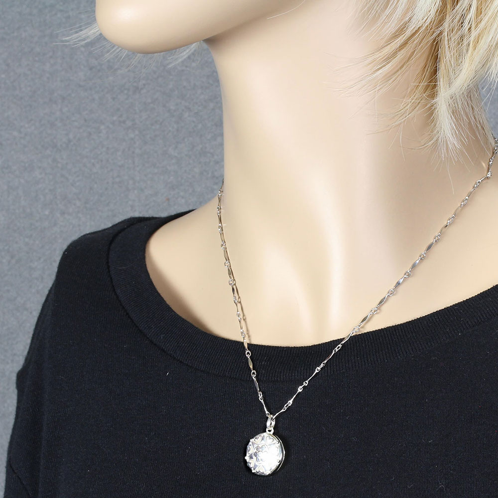 Cherish Sterling Silver Locket Necklace