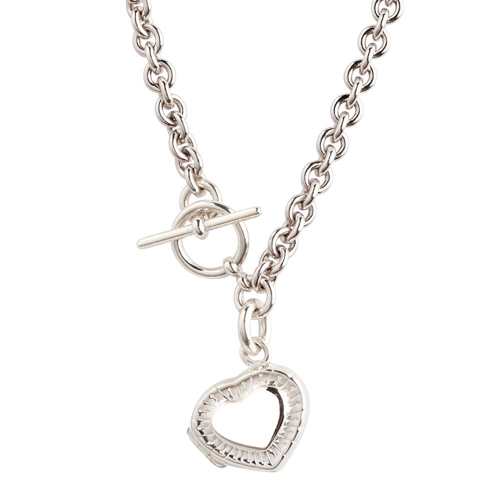 Affection Sterling Silver Locket Necklace And Bracelet