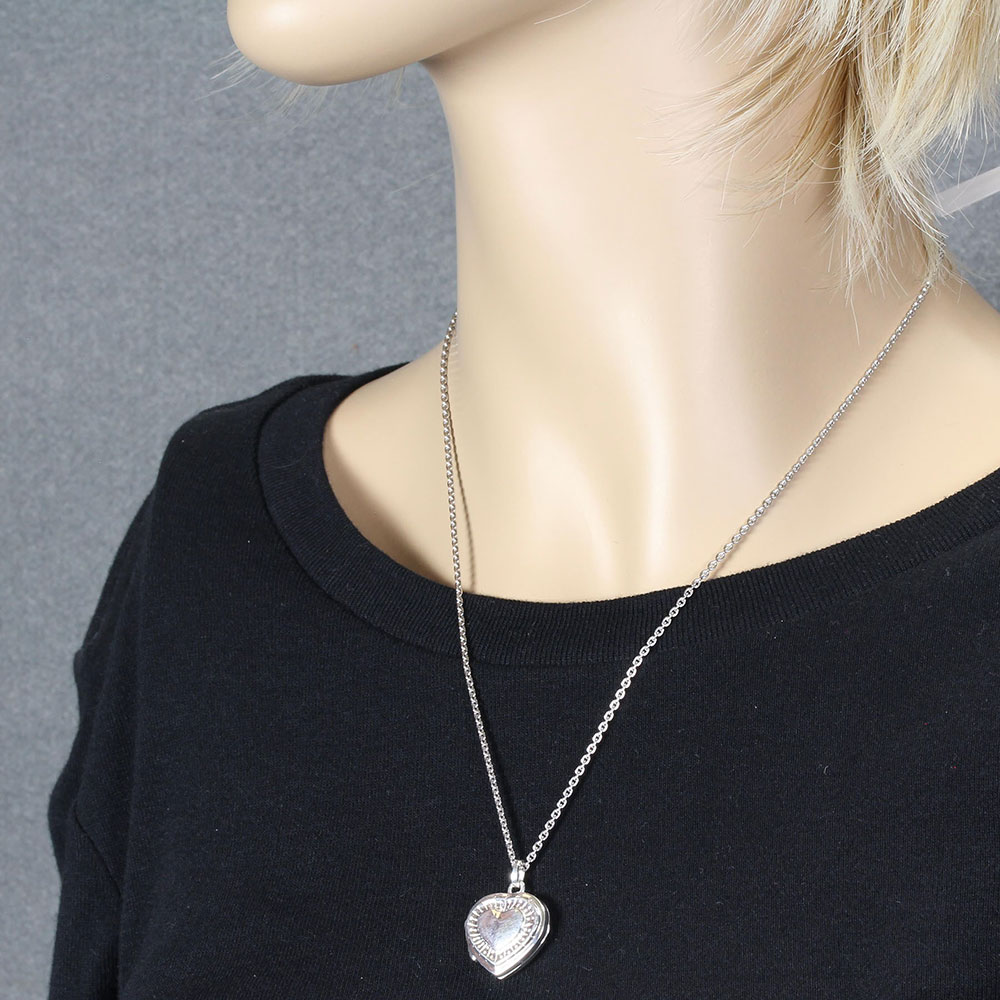 Amour Sterling Silver Locket Necklace