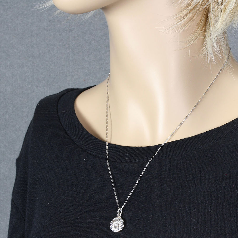Daisy Sterling Silver Locket Necklace