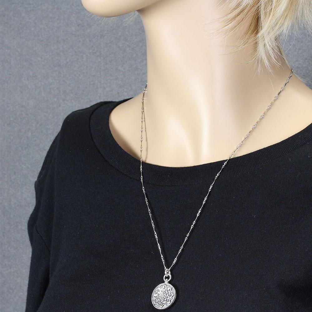 Camellia Sterling Silver Locket Necklace