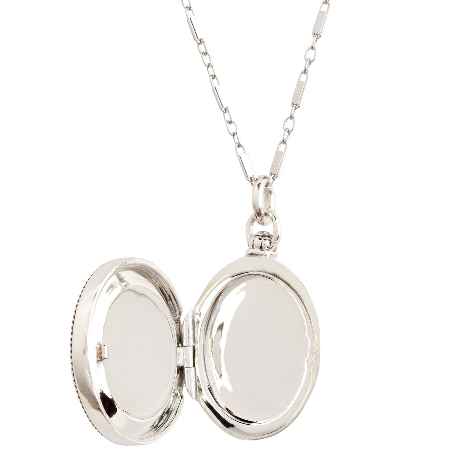 Relic Sterling Silver Locket Necklace