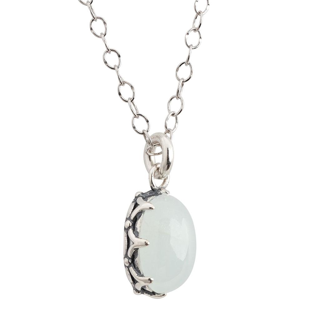 Majestic Aquamarine Pendant Necklace