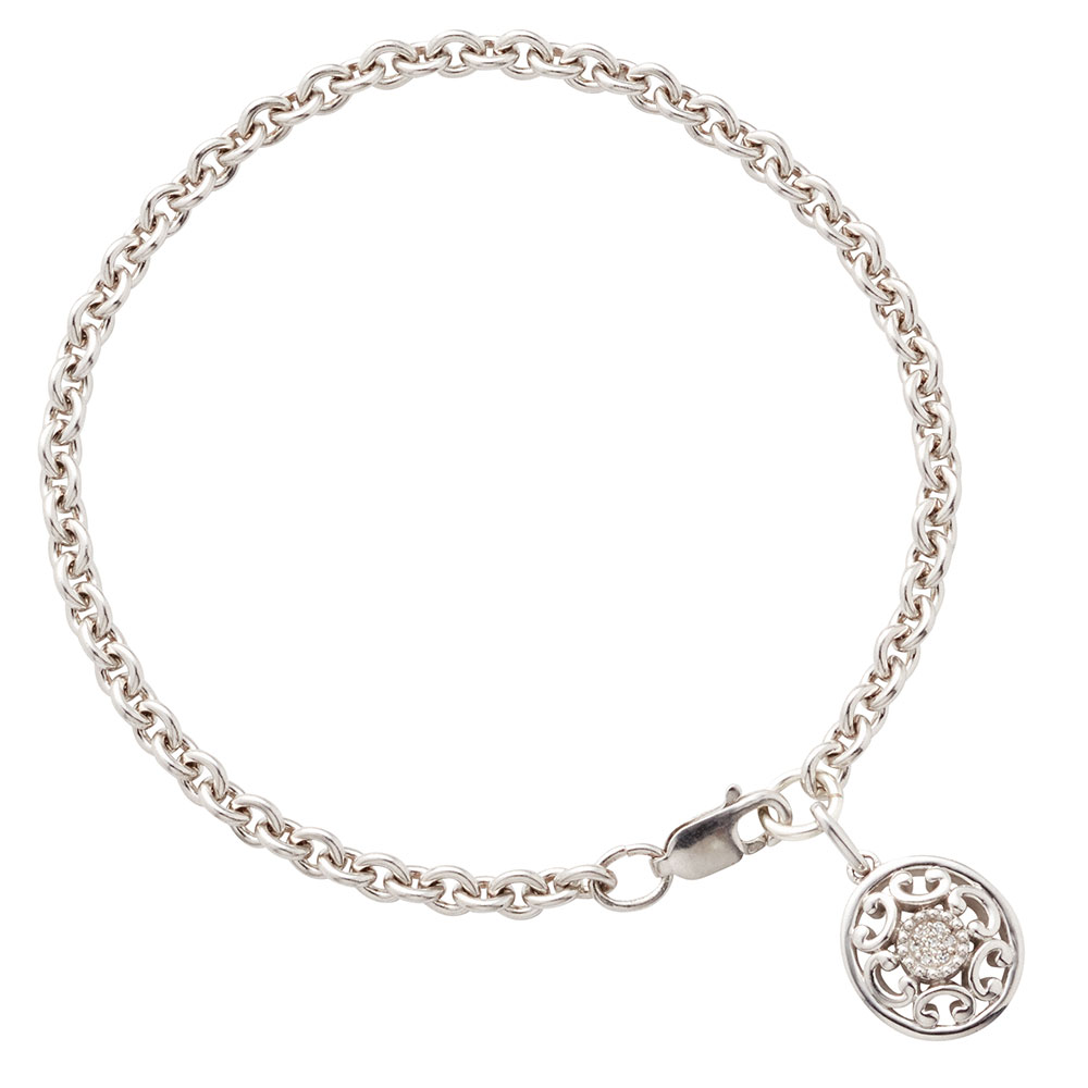 Diamond Starlight Charm Bracelet