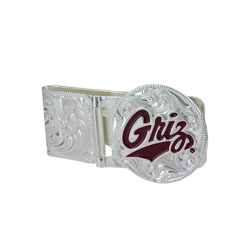 U of M Griz Hinged Money Clip