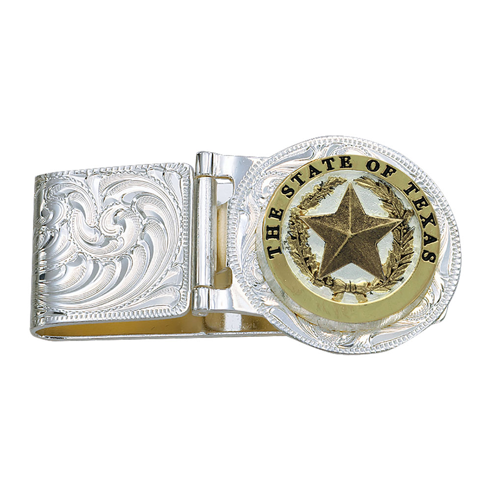 Texas Star Hinged Money Clip