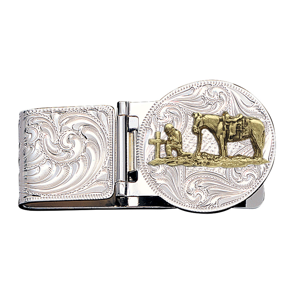 Christian Cowboy Hinged Money Clip