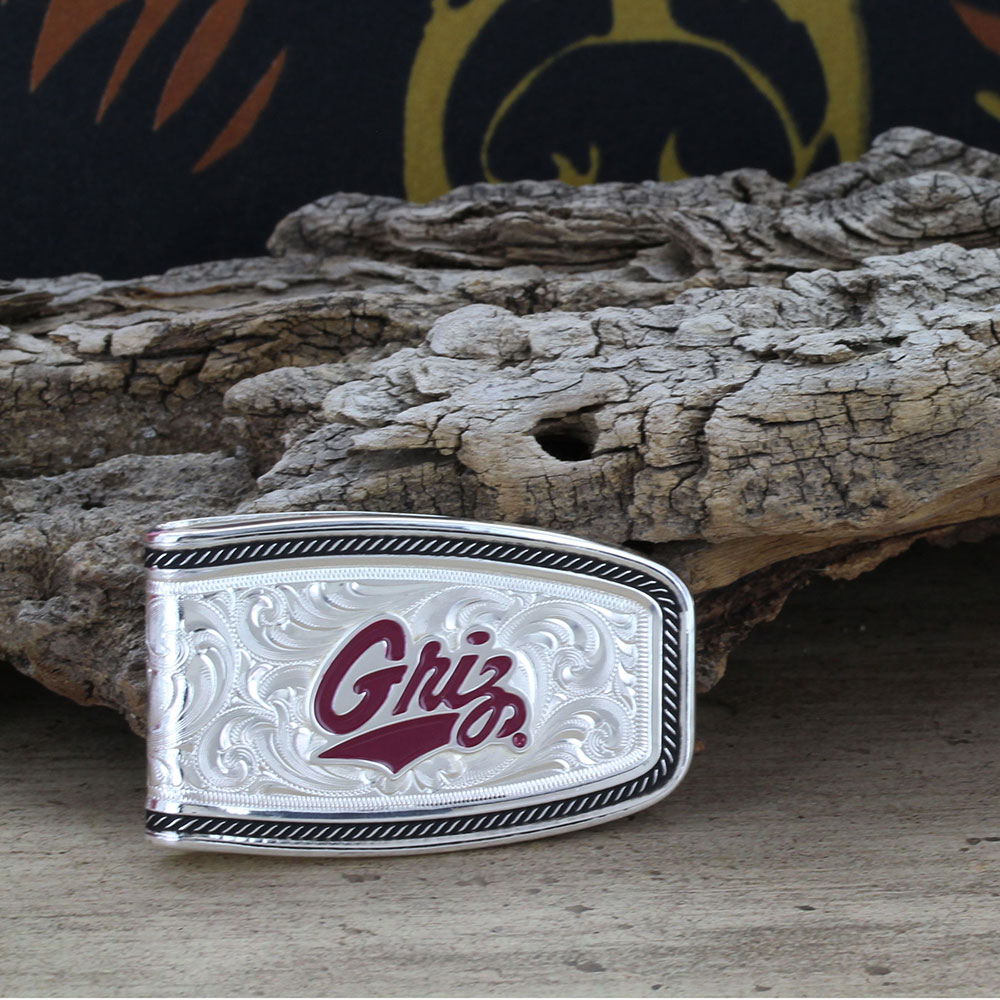 U of M Softly Roped Money Clip with Griz