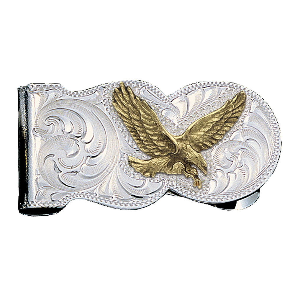Eagle Scalloped Money Clip