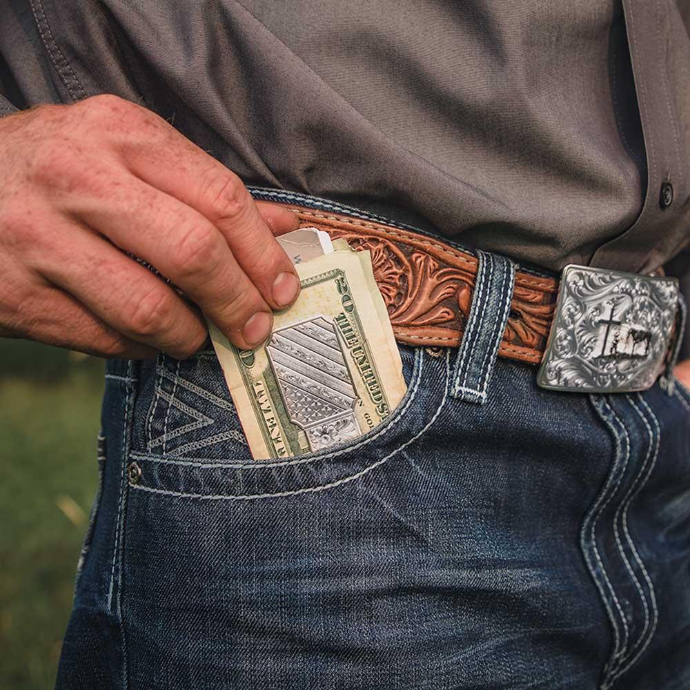 All American Silver Money Clip
