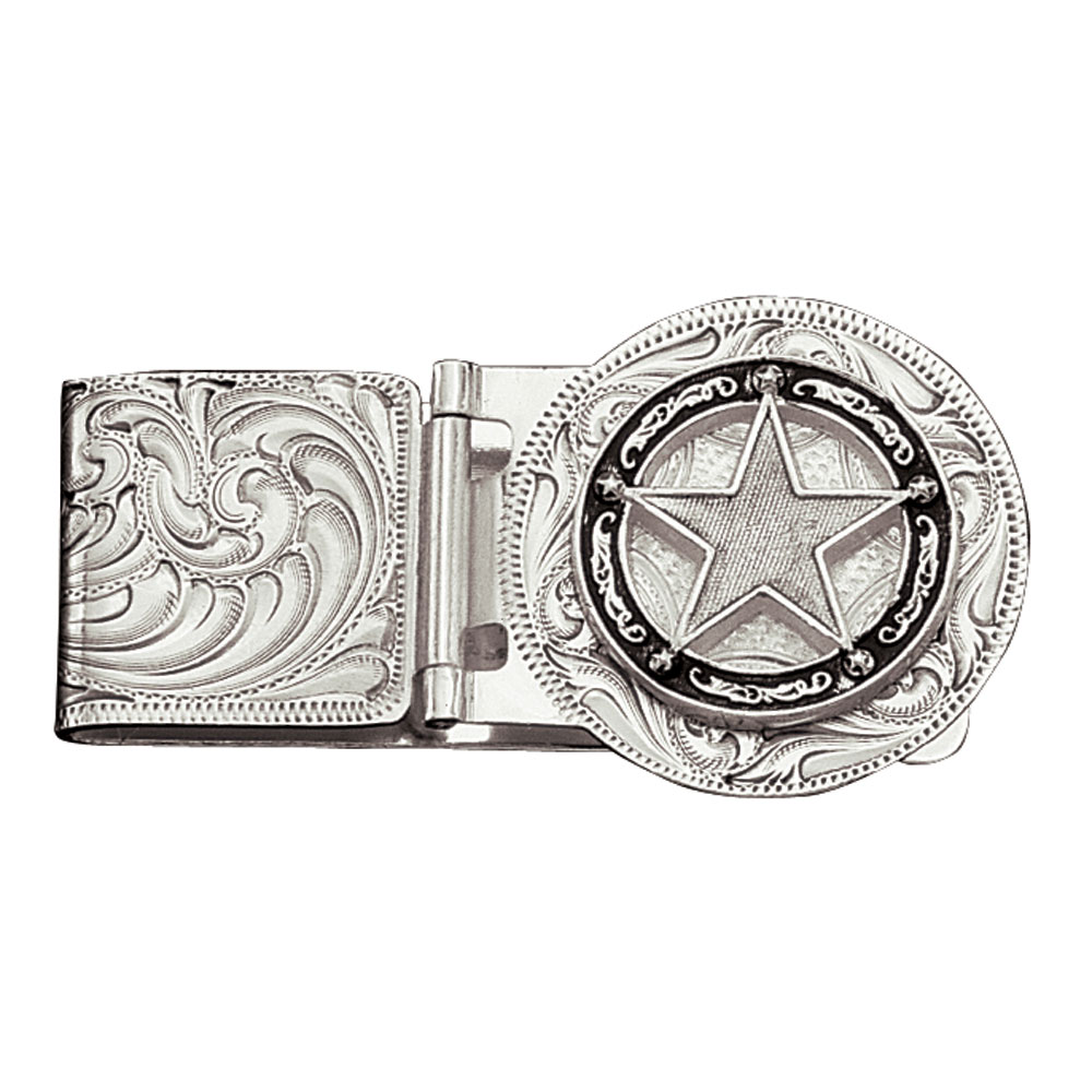 Star Concho Hinged Money Clip