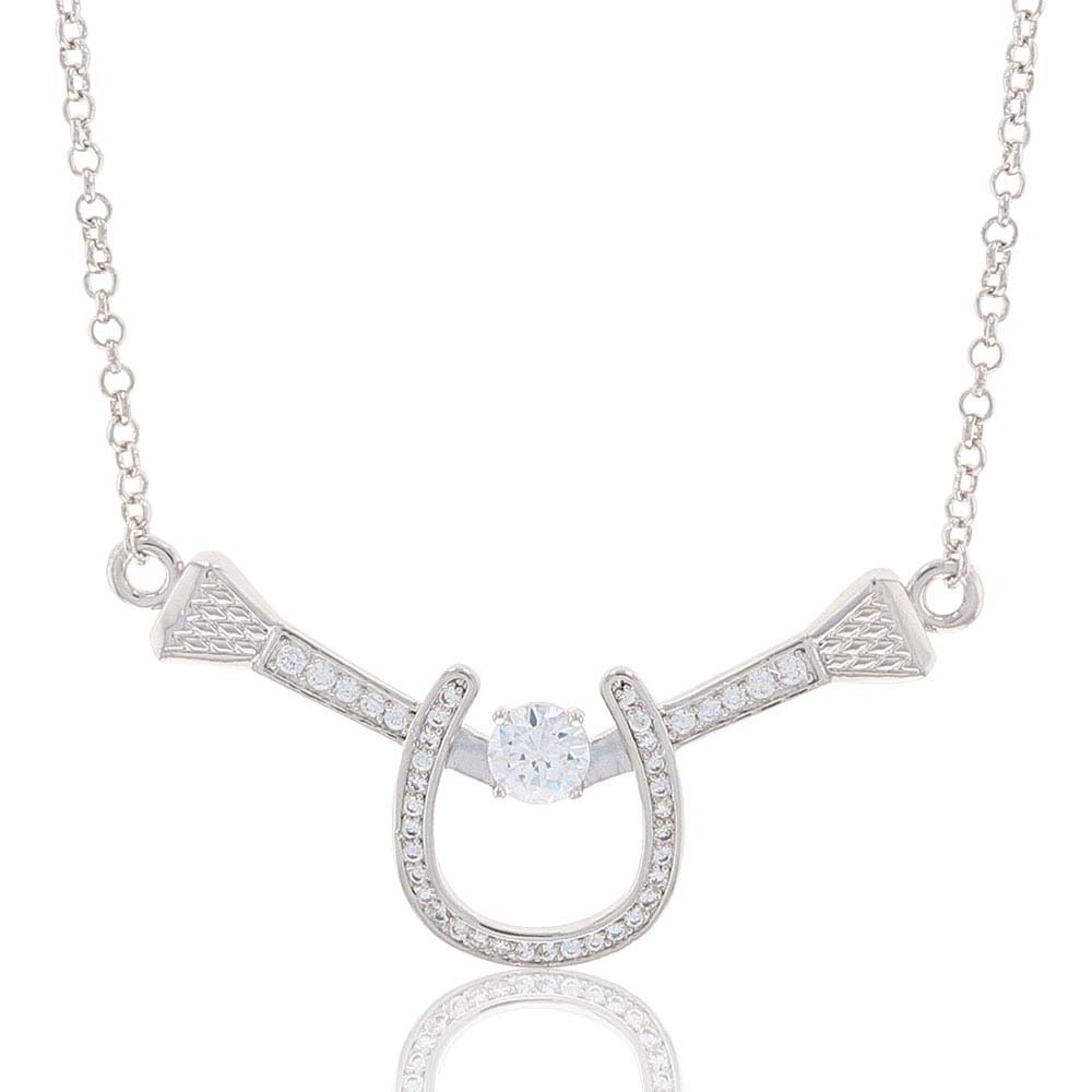 Bar Drop Horseshoe Nail Necklace