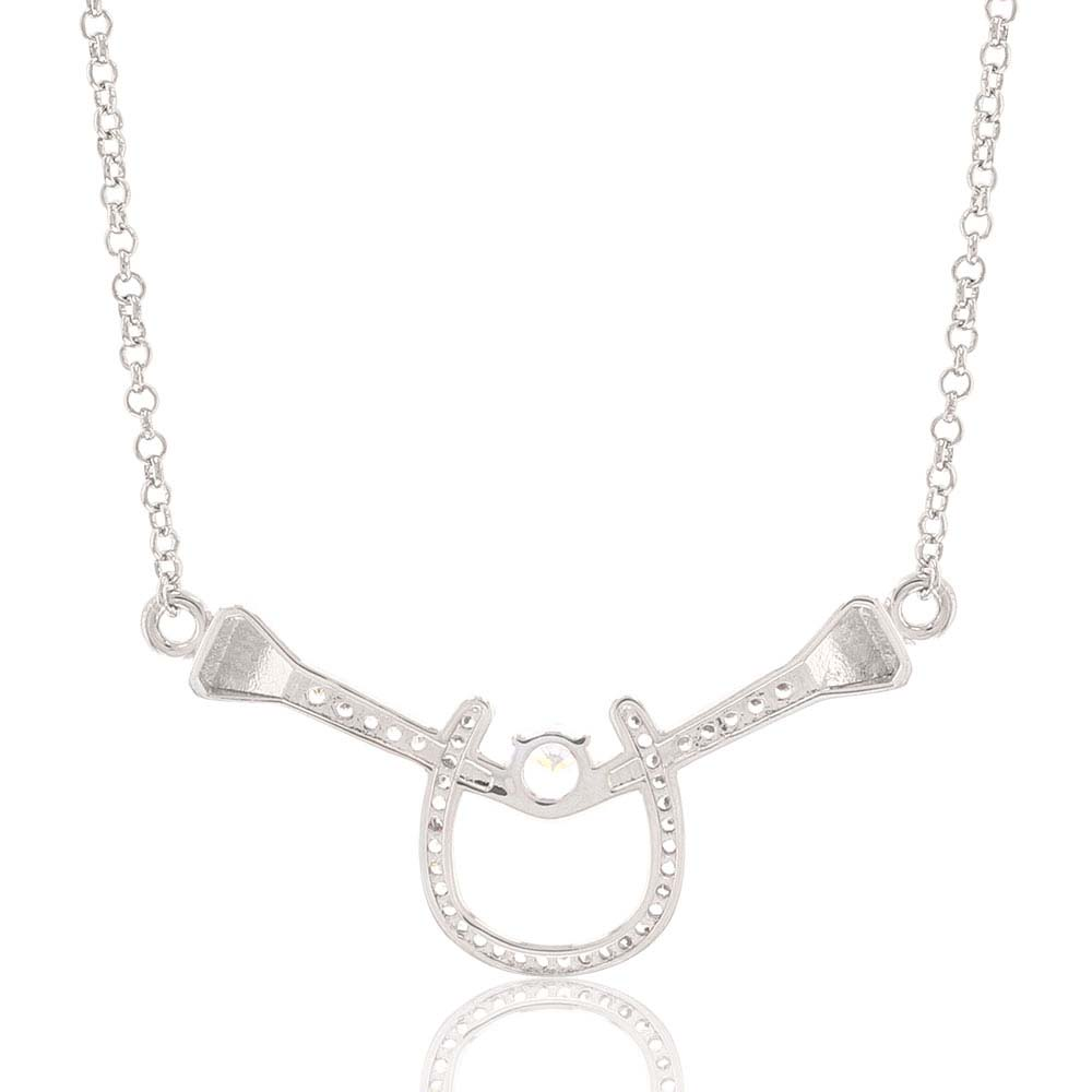 Bar Drop Horseshoe Nail Necklace