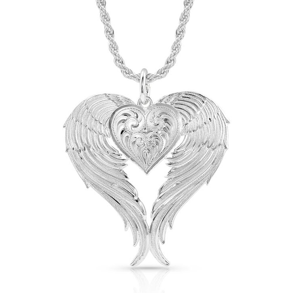 Angel Heart Silver Necklace