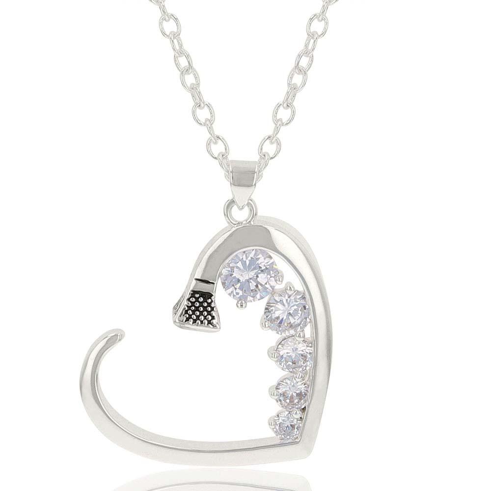Good Heart Horseshoe Nail Necklace