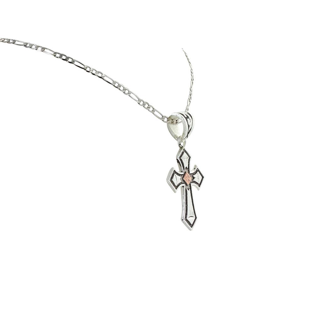 Antique Copper Diamond Cross