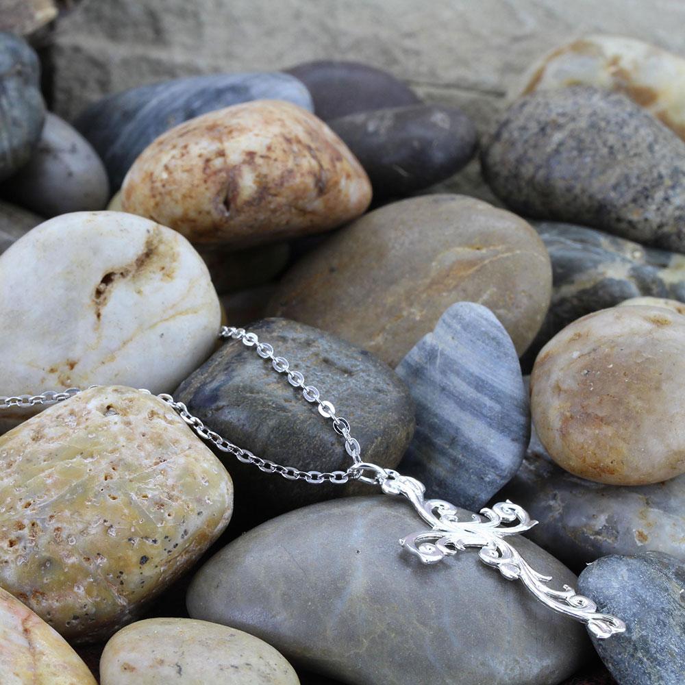 Filigree Silver Cross Necklace