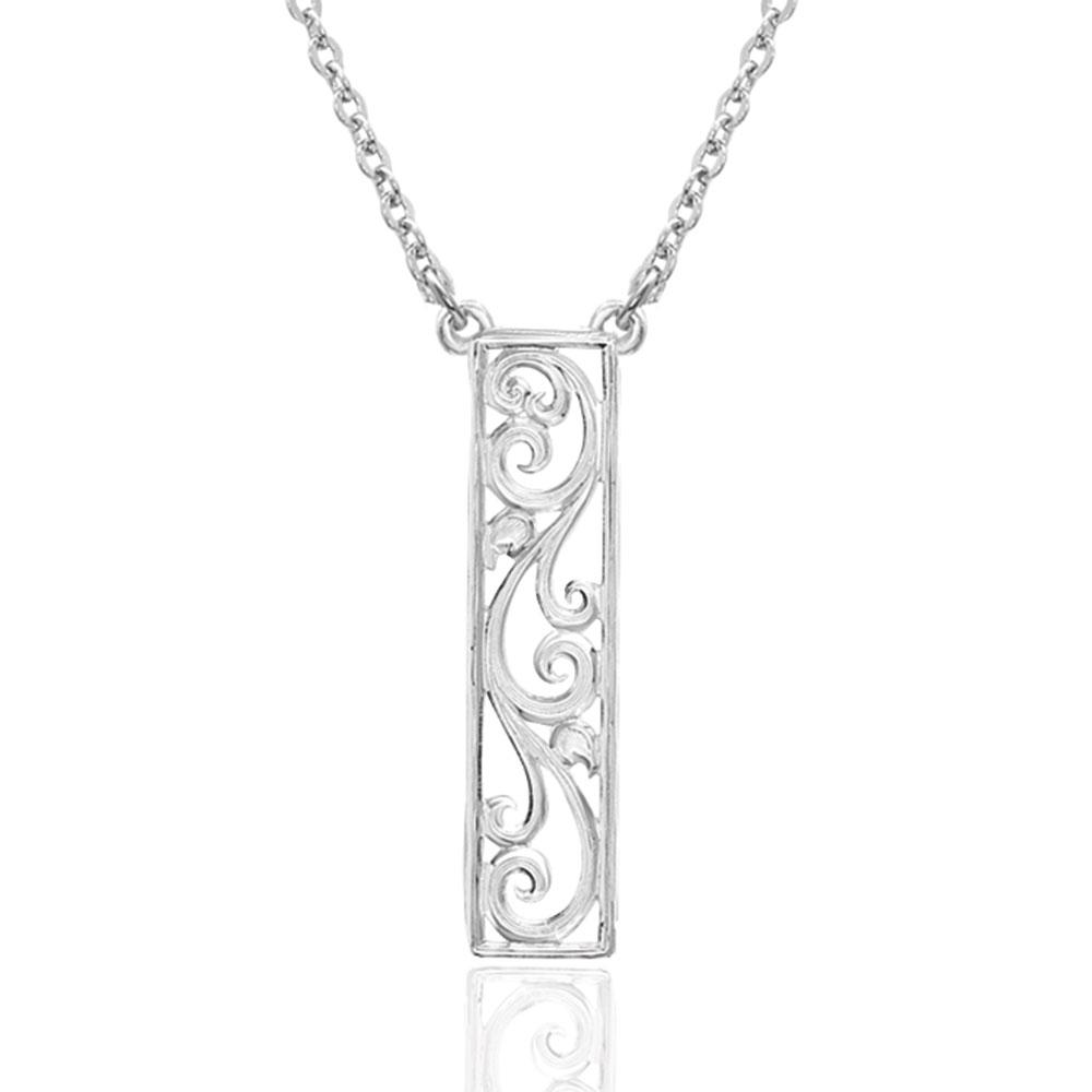 True Scroll Pendant Necklace