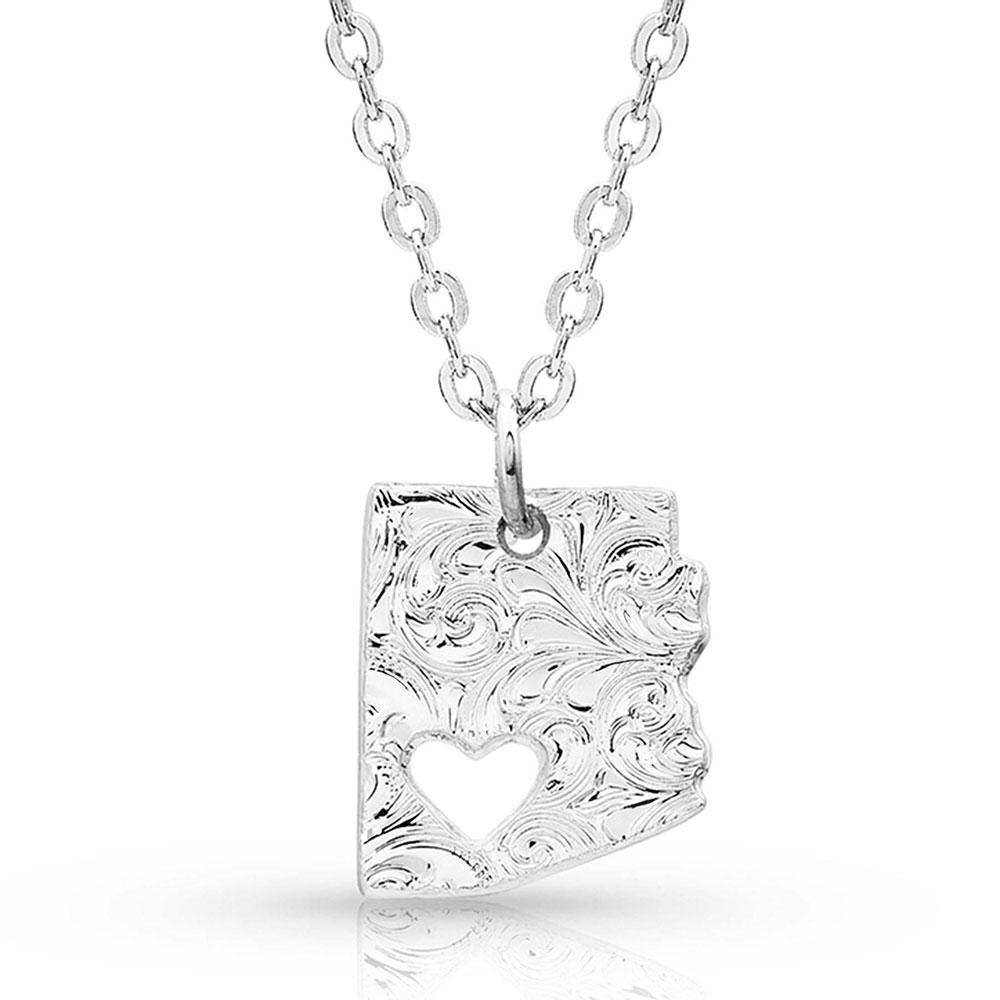 I Heart Arizona State Charm Necklace