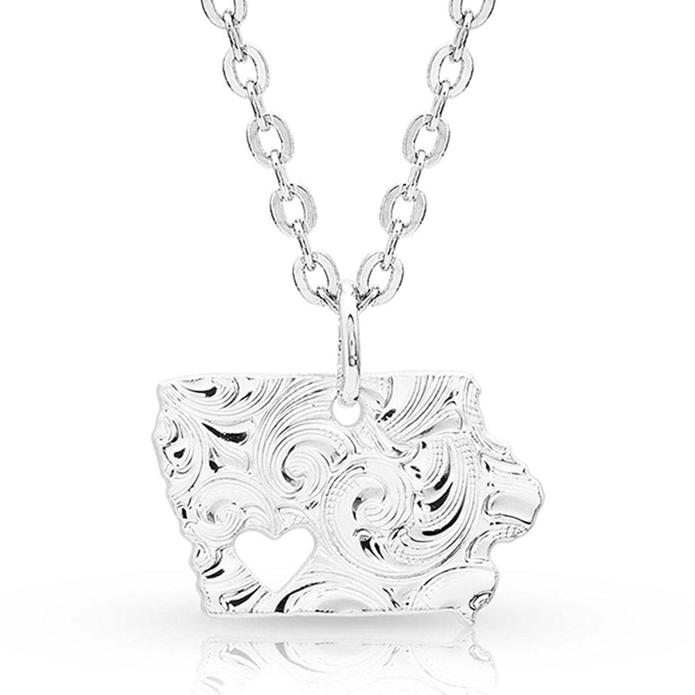 I Heart Iowa State Charm Necklace
