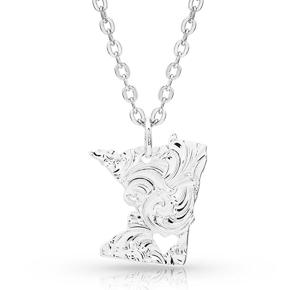 I Heart Minnesota State Charm Necklace