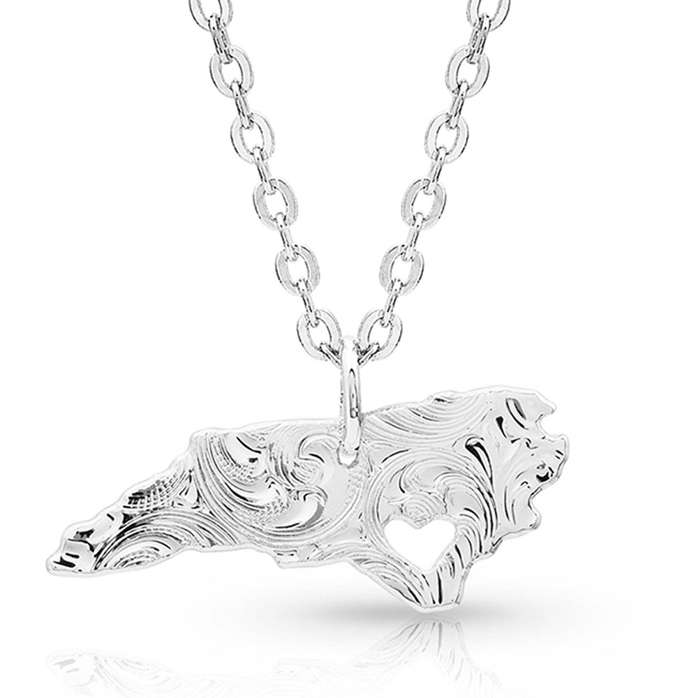 I Heart North Carolina State Charm Necklace