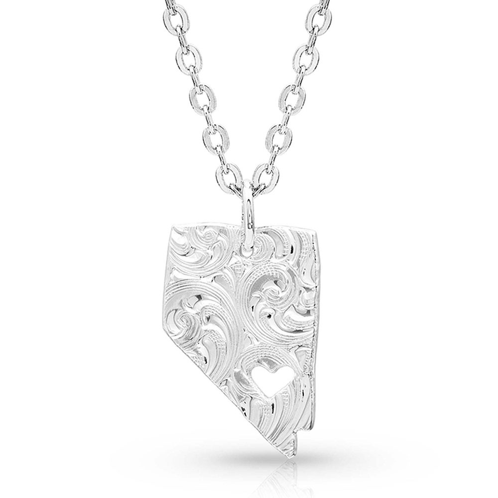 I Heart Nevada State Charm Necklace